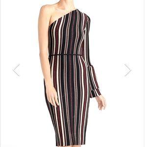 ✨HOST PICK✨ One-Shoulder Striped Dress